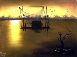 Morning in Asia Acrylic Landscape Paintings - $28.95