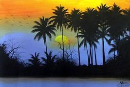 Jungle Silhouette Oriental Paintings - $24.95