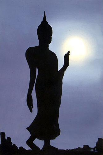 Standing Buddha Oriental Paintings