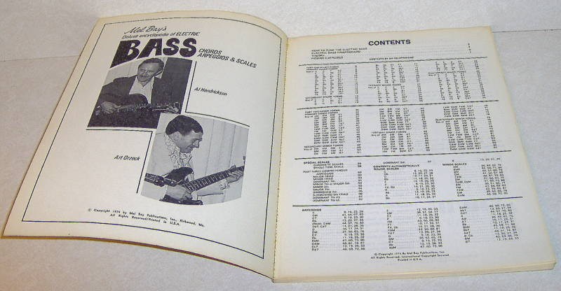 1974 Mel Bay's Deluxe Encyclopedia Electric Bass Book