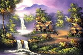 Thai Cottage Oriental Paintings - $34.95