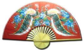 "60"" width Wisdom of the Peacocks Chinese Wall Fans - $38.95"