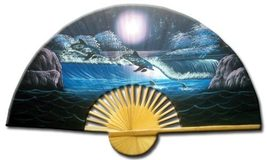 """40"""" width Frolicking Dolphins Decorative Wall Fans - $28.95"""