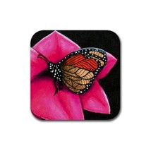 Rubber Coasters set of 4, art Cat 518 butterfly only - $13.99
