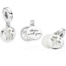 Authentic Pandora Sterling Silver Perfect Pals , Silver Enamel Charm - $34.65