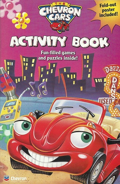 CHEVRON CARS Activity Book coloring game poster OOP 2004 Hope Faith