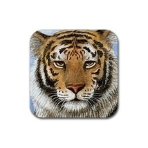Rubber Coasters set of 4,  from art painting Tiger 2 - $13.99