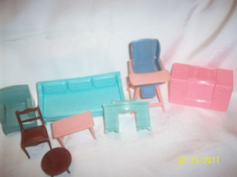 Vintage Plastic Dollhouse Furniture Mixed Lot Hong Kng