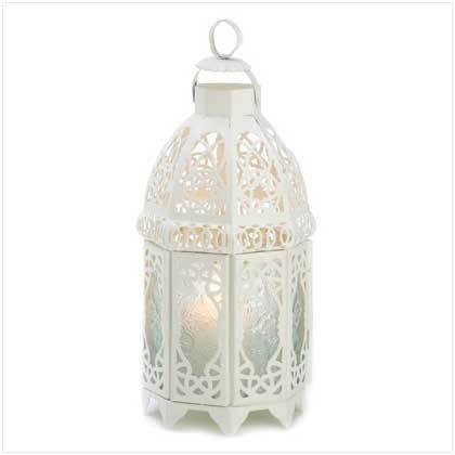 White Lattice Lantern - $26.94