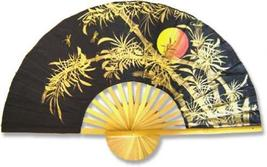 """40"""" width Bamboo Moon Chinese Wall Fans - $28.95"""