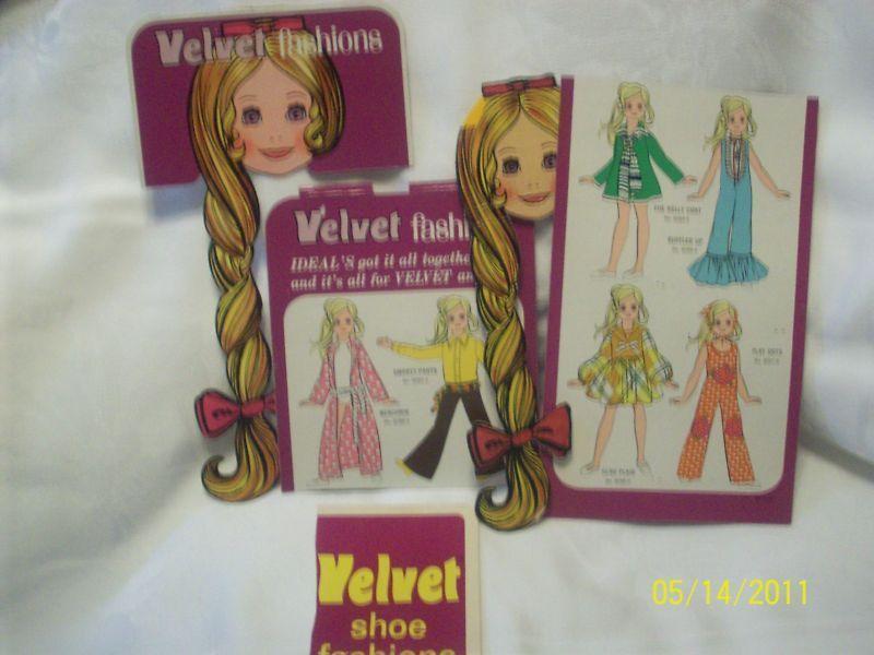 Vintage Ideal Velvet + Crissy Doll Package Pieces Lot