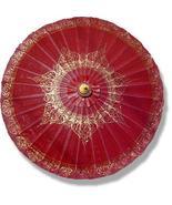 Oxblood Traditional Thai Umbrella Fashion Umbrellas - $28.95