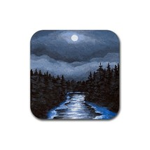 Rubber Coasters set of 4,  from painting Landscape 268 - $13.99