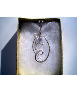 April Birthday Pendant White Spinel CZ Handcrafted  - $25.00