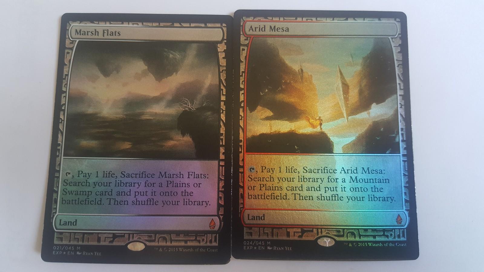 Mtg Magic PROXY FOIL 10X Fetch Land Zendikar Expeditions 10 Cards Commander FOI image 5
