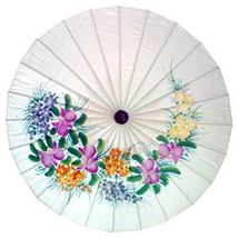 "28"" Diameter Cream Flowers Fashion Umbrellas - $20.95"