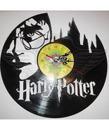 VINYL PLANET Wall Clock HARRY POTTER Home Record Unique Decor upcycled 12'' - $29.50