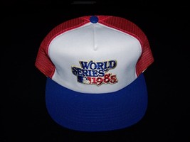 MLB World Series 1985 Baseball Vintage Snapback 1980s hat mesh back truc... - $49.99