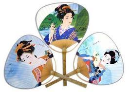 3 Pack - Japanese Geisha Paddle Fan Set Paddle Fans - $12.95