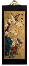 """15.5"""" Sparrow and Blossoms Wall Carvings - $29.95"""