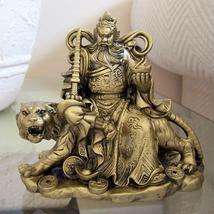 Kwan Kun Riding Fierce Tiger Resin Statues - $22.95