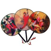 3 Pack - Traditional Japanese Paddle Fan Set Paddle Fans - $12.95