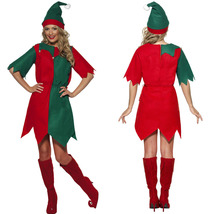 Adult Women Elf Santas Helper Christmas Halloween Costume - $20.28