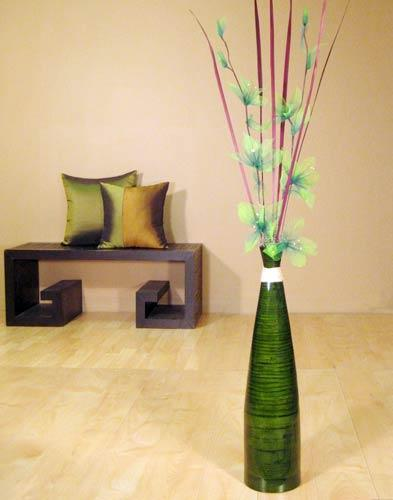 24 Tall Green Bud Floor Vase Decorative Vases Home D Cor