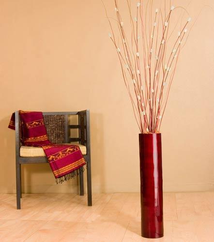 26 Mahogany Red Bamboo Cylinder Floor Vase And 46 Similar Items