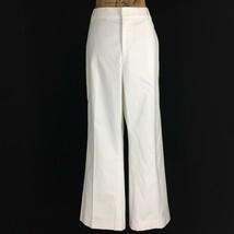 NEW Ralph Lauren 14 XL Dress Pant White Black Pin Stripe Flat Front Stra... - $29.95