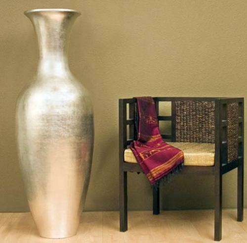47 Natural Silver Leaf Large Floor Vase And 29 Similar Items