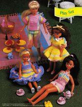 "9-1/2"" Fashion Doll Play Friends Ruffled Pinafore Crop Top Short Crochet Pattern image 2"