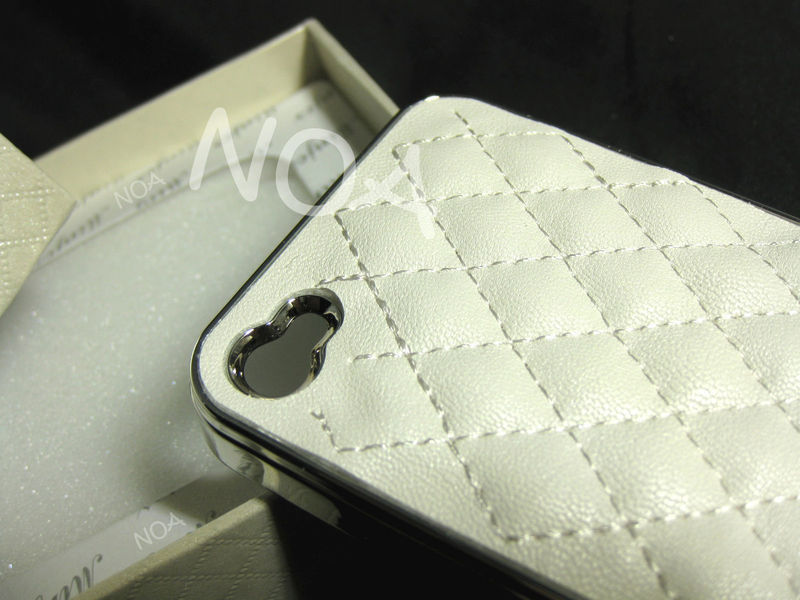 White leather iphone case a01
