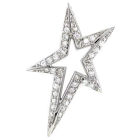0.93ct Russian Ice CZ Shooting Star Pendant 925 Silver