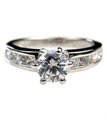1.05ct Russian Ice CZ Engagement Ring 925 Silver sz 6 - $34.99