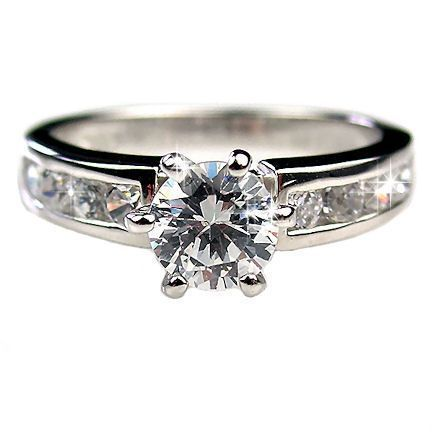 1.05ct Russian Ice CZ Engagement Ring 925 Silver sz 7