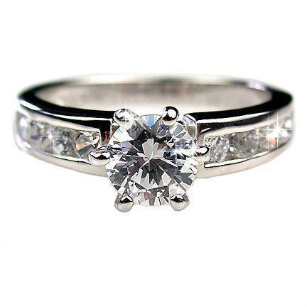 1.05ct Russian Ice CZ Engagement Ring 925 Silver sz 9