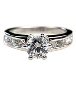 1.05ct Russian Ice CZ Engagement Ring 925 Silver sz 9 - $34.99