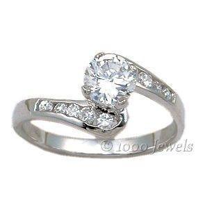 1.1ct Russian Ice CZ Promise Engagement Band Ring s 6