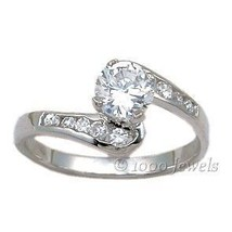 1.1ct Russian Ice CZ Promise Engagement Band Ring s 7 - $35.98