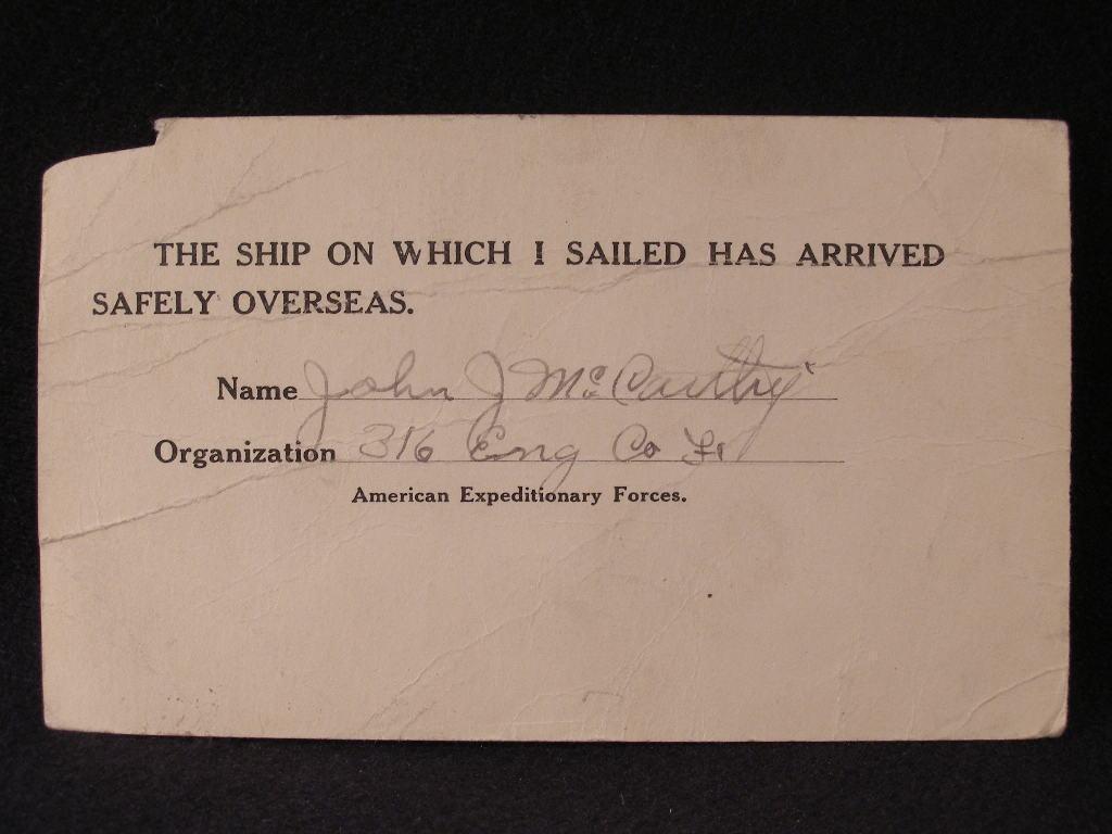 World War II Military Post Card - Soldiers' Mail - (sku# 1666)