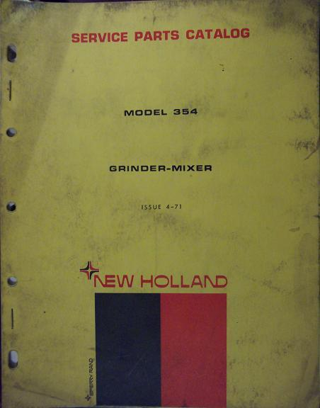 New Holland 354 Feed Grinder-Mixer Parts Manual