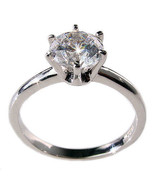 1.25c Russian CZ Engagement Ring 925 Sterling Silver 4 - $29.95
