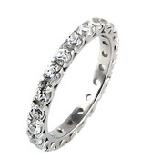 1.26ct Russian Ice CZ Stackable Eternity Band Ring s 7 - $30.00