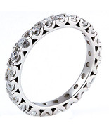 1.26ct Russian Ice CZ Stackable Eternity Band Ring s 8 - $30.00