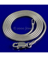1.2mm Round Italian Snake Chain 925 Sterling Silver 18 inches - $22.00