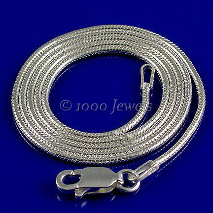 1.2mm Round Italian Snake Chain 925 Sterling Silver 20 inches