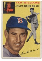 1954 Topps #250 Ted Williams Red Sox VG/EX Very Good/Excellent  - $400.00