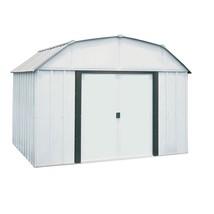 Storage Shed Steel Building 10 x 8 Sliding Lockable Double Door Outdoor ... - $527.21