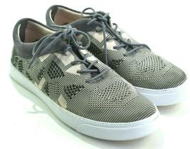 Clarks Somerset Women's Gray Tan Glove Glitter Sneakers Knit Shoes Size 7.5 M - $31.14
